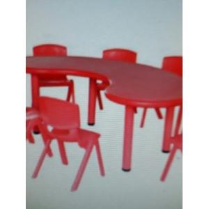 Bộ bàn 8 ghế xanh đỏ