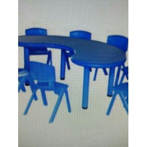 Bộ bàn 8 ghế xanh dương