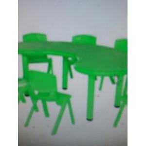 Bộ bàn 8 ghế xanh lá